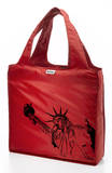 RuMe Steez Statue of Liberty Reusable Tote Bag - Crimson Tote Bag