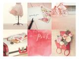 Believe in Pink Kunstdruck von Mandy Lynne