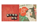 Kiss Me Giclee Print by Mandy Lynne