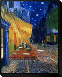 The Café Terrace on the Place du Forum, Arles, at Night, c.1888 Framed Canvas Print by Vincent van Gogh