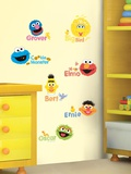 Sesame Street - Scribble Peel & Stick Wall Decals Autocollant mural