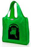 RuMe Steez Monkey Headphones Reusable Tote Bag - Grass Tote Bag
