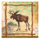 Moose Nature Giclee Print by Walter Robertson