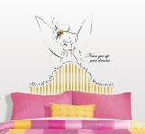 Disney Fairies - Tinkerbell Headboard Peel & Stick Giant Wall Decal Wall Decal