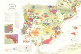 Iberia Wine Map (Spain &amp; Portugal) Poster Prints