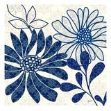 Blue Floralesque 1 Posters par Bella Dos Santos