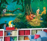 Lion King Chair Rail Prepasted Mural Wallpaper Mural