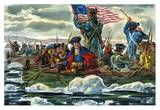 Washington Crossing the Delaware Print by A.K. Bilder