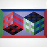 Homage of the Hexagon V Collectable Print by Victor Vasarely