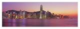 Hong Kong skyline at sunset Posters by Murat Taner