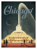 Visit Chicago Poster by  Anderson Design Group