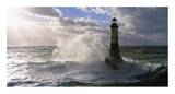 Phare d&#39;Ar-Men pres de l&#39;ile de Sein Prints by Jean Guichard