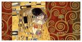 The Kiss (gold montage) Prints by Gustav Klimt