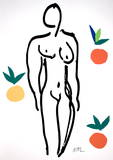 Nude with Oranges Serigraph by Henri Matisse