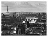 River Seine and the City of Paris Affiches par Peter Turnley