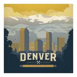 Denver The Mile High City Square Pósters por Anderson Design Group