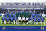 Chelsea FC Team Photo 2012-13 Posters