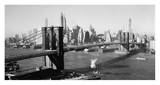 Brooklyn Bridge with Manhattan skyline, 1930s Kunstdrucke