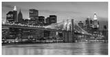 Brooklyn Bridge at Night Lámina