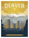 Denver, The Mile High City Poster by  Anderson Design Group