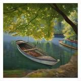 Barca sul fiume Art by Adriano Galasso
