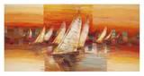 Vele al tramonto Prints by Luigi Florio