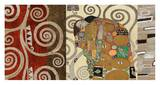 The Embrace (montage) Posters by Gustav Klimt