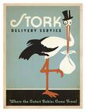 Stork Blue Reprodukcje autor Anderson Design Group