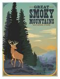 Great Smoky Mountains Deer Print by  Anderson Design Group