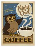 Night Owl Coffee Art by  Anderson Design Group