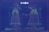 Doctor Who - Dalek Blue Prints Print