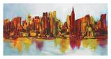 New York Abskyline Posters by Claude Becaud