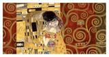 Gustav Klimt - The Kiss (gold montage) Plakát