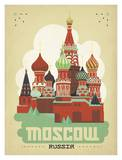 Moscow Russia Art by  Anderson Design Group