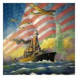 Star Spangled Way Prints by Charles Champe