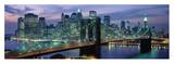 Brooklyn Bridge and Skyline Poster by Richard Berenholtz