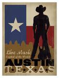Austin, Live Music Capital of the World Pster por Anderson Design Group