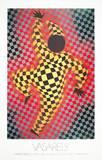 Clown (Red) Sammlerdruck von Victor Vasarely