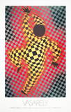 Clown (Red) Collectable Print by Victor Vasarely