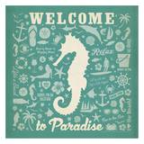 Seahorse Pattern Square Prints by  Anderson Design Group