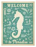 Seahorse Pattern Affiches par  Anderson Design Group