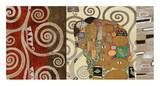 The Embrace (montage) Prints by Gustav Klimt