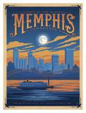 Souvenirs de Memphis, Tennessee Affiche par  Anderson Design Group