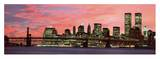Manhattan at night Poster van Richard Berenholtz