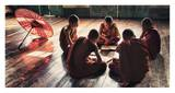Young monks reading books in monastery Prints by Scott Stulberg