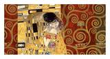 The Kiss (gold montage) Art by Gustav Klimt