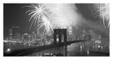 Fireworks over the Brooklyn Bridge Prints