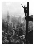 Waving from Empire State Building Construction Site, 1930 Posters