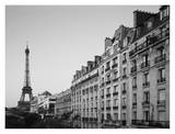 Apartment buildings along River Seine Prints by Raimund Koch