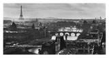 Fluss Seine und die Stadt Paris Poster von Peter Turnley
